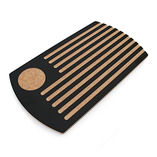 In materiale riciclato, ecologico, colore: nero ardesia %2FWooden alternativa PANE