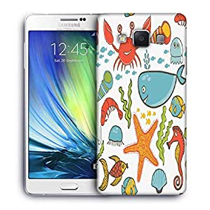 Snoogg Fish World Printed Protective Phone Back Case Cover For Samsung Galaxy A7