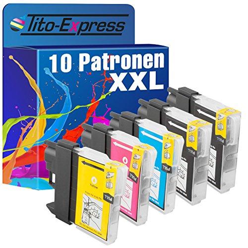PlatinumSerie 10 Tintenpatronen XXL mit Chip kompatibel für Brother LC985 MFC-J 220 MFC-J 265 W MFC-J 410 Series MFC-J 410 MFC-J 415 W
