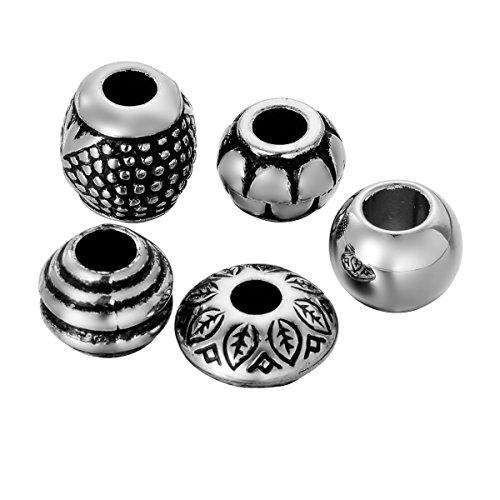 HooAMI Mischen Perlen im europaeischen Stil grosses Loch-50 pcs