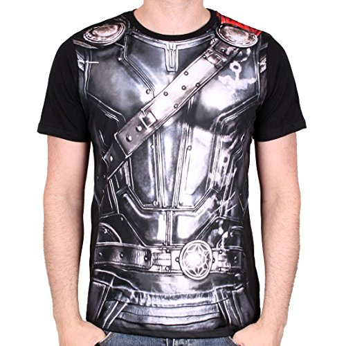 (Marvel Comics - Ragnarok Herren T-Shirt - Sublimation Suit (Multicolor) (S-XL) (M))
