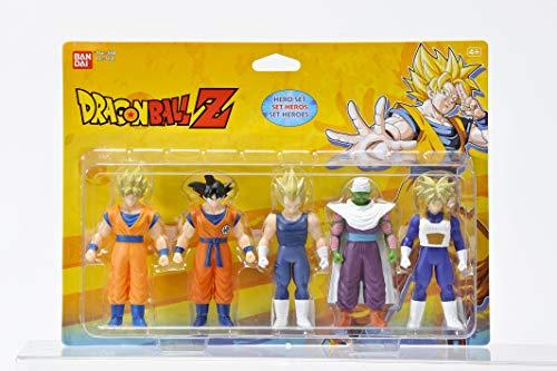 Pack que contiene 5 figuras inspiradas en la serie de animación Dragon Ball Z. En el interior encontrarás a personajes como Goku, Vegeta, Piccolo, Trunks del futuro en versión Super Saiyan y Goku en versión Super Saiyan. Las figuras tienen una altura...