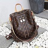 Ldyia Mehrfach-Handtaschen-Schultertasche, Mode, Damenrucksack, Wilde Reisetasche, große Handtasche, braun