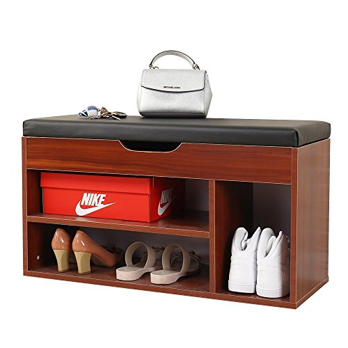 Mamta Decoration Sheesham Wood Storage Shoe Rack Bench for Living Room | Brown