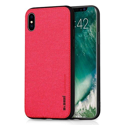 Cover iPhone X, Cover iPhone 10, MEMUMI Custodia iPhone X con protezione sottile e chiarezza Premium Anti Graffio Case Anti Impronte Protettiva e Leggera Cover per Apple iPhone X Rosso