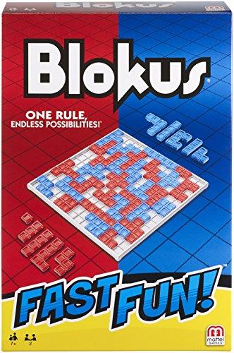 Mattel Games FMW25 Fast Fun Blokus, schnelles Strategiespiel geeignet für 2 - 4 Spieler, Spieldauer ca. 15 Minuten, ab 7 Jahren