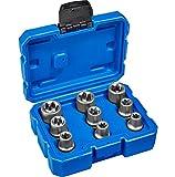 TecTake Steckschlüsselsatz Torx | Steckschlüssel mit Kodierung und Kugelfangrille| inkl. Koffer - verschiedene Modelle (Typ 3 | Nr. 402686)