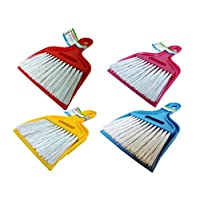Zambak Compact Mini Small Dustpan Brush Set For Keyboards Vents Dashboard Car Dust Pan (Assorted -1 Supplied)