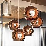 Osradmd Kupfer Pendelleuchte, verzinkt Glas, einem Kopf Pendelleuchte, Designer, die moderne Persönlichkeit, Creative Bar, Hängeleuchte, Kupfer Gold Trompete