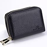 SHANSHUI RFID Blocking Primely Genuine Leather Credit Card Holder
