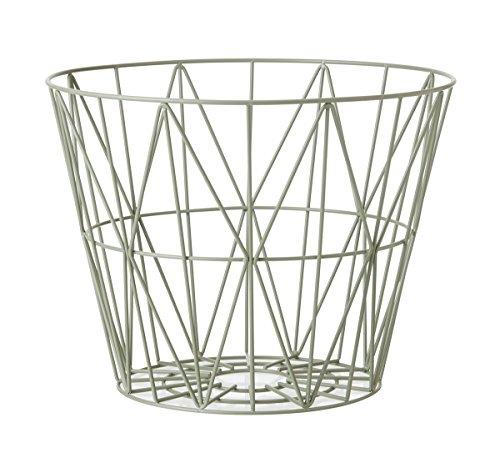 Ferm Living Wire Basket Small, dusty green (Wire Korb)