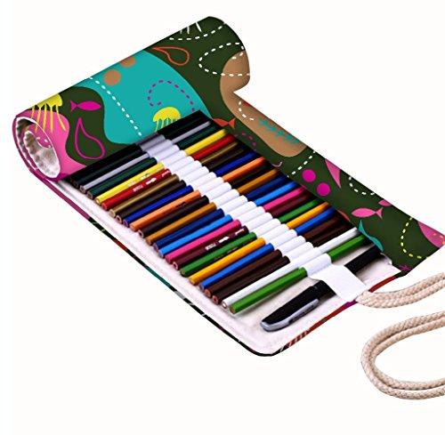 snoogg-sea-world-green-pattern-design-canvas-wrap-holder-for-36-matita-colorata-roll-case-for-gel-pe
