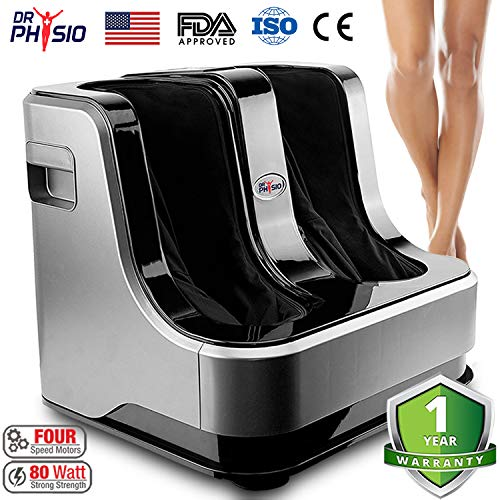 Dr Physio Shiatsu Electric Powerful Leg Foot and Calf Massager Machine (Black)