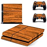 XMY Wood Grain Wrap Decal Skin Sticker for Playstation 4 PS4 Console+Controller #157