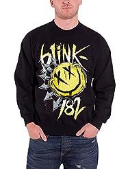 Blink 182 Noir Smiley-shirt officiel