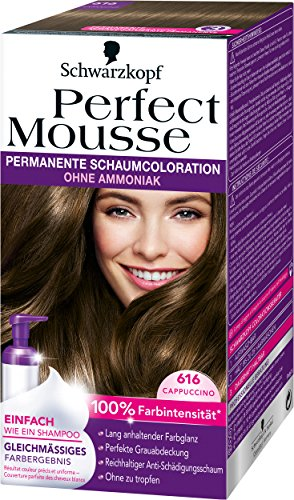 Perfect Mousse (Perfect Mousse permanente Schaumcoloration, 616 Cappuccino, 3er Pack (3 x 93 ml))