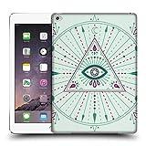 Offizielle Cat Coquillette Böser Blick Grün Mandala Ruckseite Hülle für iPad Air 2 (2014)