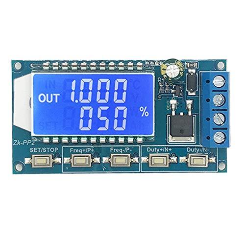 Calistouk Signalgenerator LCD-Display PWM Puls High Power Dämmerungsmodul Magnetventil Frequenz Duty Zyklus Einstellbare Funktion Generator PP2 Lcd-pole Kit