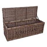 Vintage-Line Korbtruhe Long Island groß Rattankorb Naturrattan Rattan Truhe Bettkasten