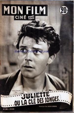 MON FILM [No 288] du 27/02/1952 - GERARD PHILIPE DANS