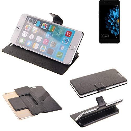 K-S-Trade Schutz Hülle für Hisense A2 Schutzhülle Flip Cover Handy Wallet Case Slim Handyhülle bookstyle schwarz