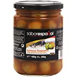 Gourmet SaborEspañol Aceitunas Gazpachas, Verdes Manzanilla con Hueso Extra - 250 g