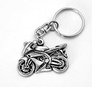 Moto Porte-Clé (porte-clés), in Fine en étain anglais fait à la main, Moto X