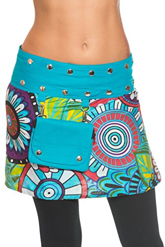 ufash Minifalda en Colores de Moda con Botones automáticos – Muchos Diseños  Diferentes e20e94bebf1b