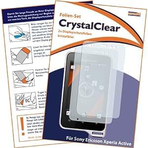 2 x mumbi Displayschutzfolie Sony Ericsson Xperia Active Displayschutz CrystalClear unsichtbar