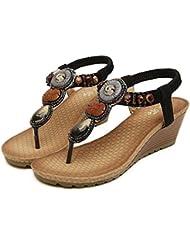 Clode® Femmes Sandales d'été Mode Vintage plage sandales perlées Chaussures Femme