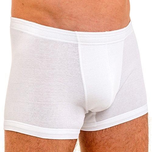 HERMKO 3901 3er Pack Herren Boxershorts Pant aus 100% Baumwolle Weiß