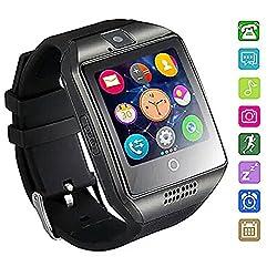 Smartwatch Bluetooth Wasserdicht, Axcella 2018 New Smartwatch Unterstützt Simtf-karte Smart Armband Band Sport Mit Schrittzähler Schlafen Monitor Facebook Whatsapp Smartwatch Für Andorid Smartphone
