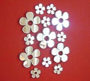 Daisy Mirrors Bundle - Eight x 2cm x 2cm & Five x 4cm x 4cm