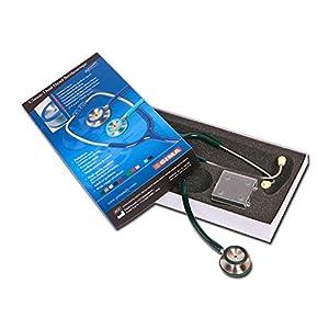 GIMA Stetoscopio Classic, verde scuro, dispositivo medico CE
