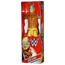 WWE SIN CARA 12 POLLICI - MATTEL WRESTLING FIGURE - GIALLO ABBIGLIAMENTO