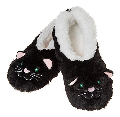 Snoozies , Chaussons pour femme motif chat noir
