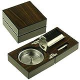 Posacenere sigaro personalizzato con kit taglierina sigaro ghigliottina per gli uomini regali vassoio di cenere per il nonno, regalo di Natale