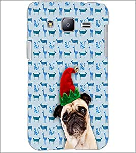 PrintDhaba Funny Dog D-3507 Back Case Cover for SAMSUNG GALAXY J2 (Multi-Coloured)