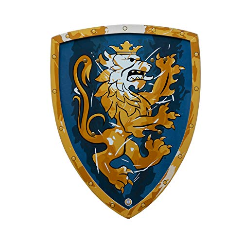 Liontouch 113LT Mittelalter Edler Ritter Spielzeug Schaumstoff Schild für Kinder, Blau | Teil von Kostüm mit Schwert und Zubehör