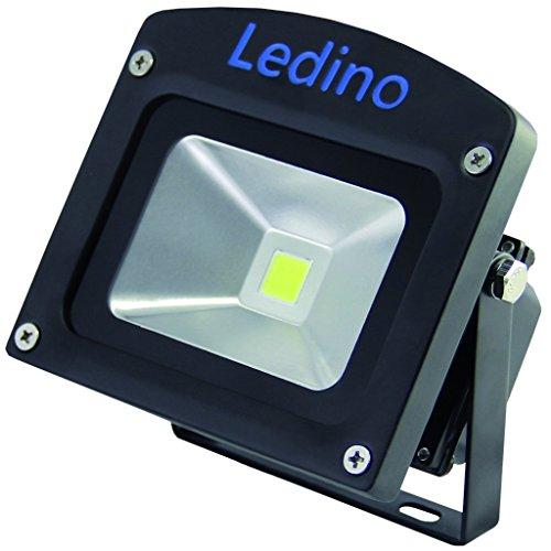Ledino LED-Flutlichtstrahler in Schwarz mit Epistar LEDs, 10 W, kaltweiß