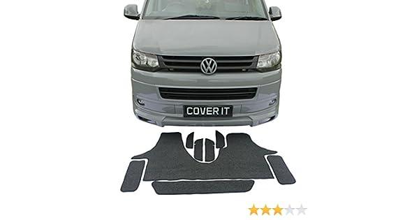 Tappetini in gomma VW t5 t6 DOPPIA CABINA 3 SEDILE serie tappetini in gomma Set 2 pezzi