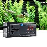 Termostato electrónico para Acuario, syyl Termómetro electrónico con pantalla LCD y sensor NTC, controlador de temperatura electrónico digital para bañera Hydroponics Fish Tank/reptil/Tortuga