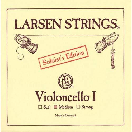 Larsen - Corde per violoncello A, acciaio cromato, 4/4, misura: media