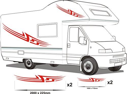Smarts-Art Camper Van Wohnmobil Vinyl Grafiken Aufkleber Set Wohnmobil-Wohnwagen/Pferdeanhänger Set8