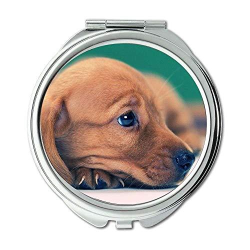 Yanteng Spiegel, Reise-Spiegel, bunten niedlichen Hund Hund hd p, Taschenspiegel, 1 X 2 X Vergrößerung