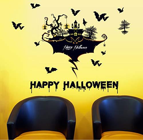 zwyluck 100 * 105 cm happy halloween dekoration wandaufkleber party fenster bar festival abziehbilder diy kinderzimmer wandbilder abnehmbare wohnkultur