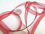 CaPiSo 50 Metros Rollo 10 mm de Lazo de Organza: Rojo