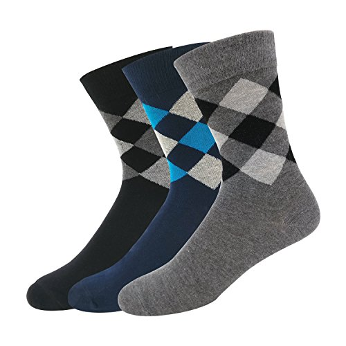 Navy Sport Men's Cotton Calf Length Socks Multicolour!_Free Size - Pack of 3