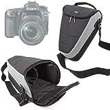 Housse étui de transport large pour Canon EOS 80D et EOS-1D X Mark II, Sigma sd Quattro / Quattro H appareils photo SLR et leurs accessoires, par DURAGADGET