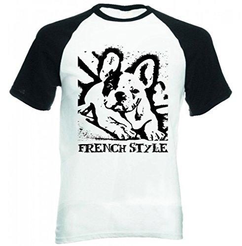 Teesquare1st Men's FRENCH BULLDOG LIFE WITHOUT PB 31 Black Short Sleeved T-Shirt Size Medium